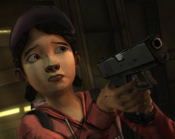 The Walking Dead Clementine with gun
