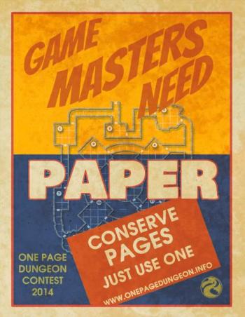 One Page Dungeon 2014 Propaganda Flier