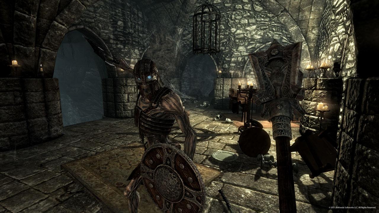 Draugr dungeon in Skyrim