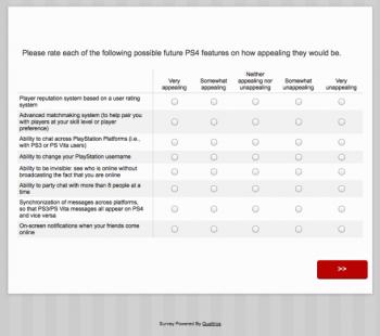 PS4 Survey