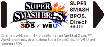 smash bros nintendo direct