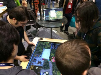 d20 pro on mesa mundi touch table