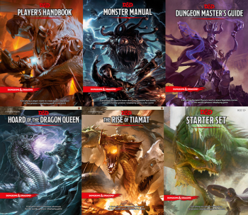 dungeons and dragons covers spread