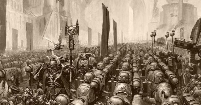 warhammer 40k space marine legion