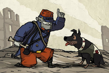 Valiant Hearts soldier and dog