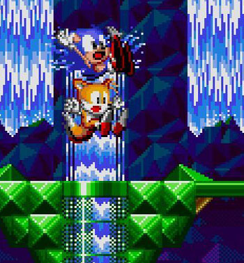 Hidden Palace Zone from Sonic the Hedgehog 2