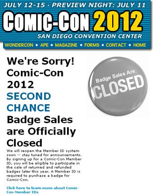 Comic Con badge problems
