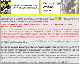Comic Con badge fail