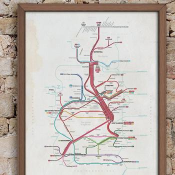 Game of Thrones Transit Map King's Landing