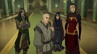 zaheer and red lotus meet with earth queen legend of korra long live the queen