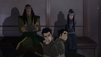 bolin and mako bond with ghazan and ming hua legend of korra long live the queen