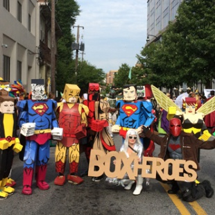 dragoncon parade staging more box heroes