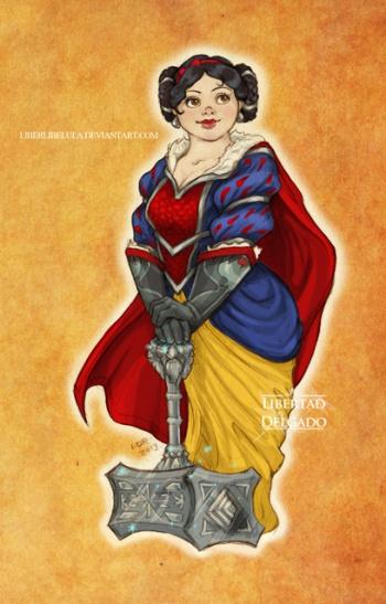 disney meets warcraft snow white