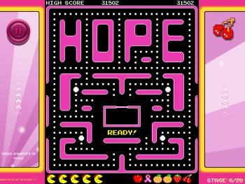 Ms Pac-Man Pink Ribbon campaign