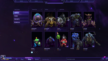 heroes of the storm store