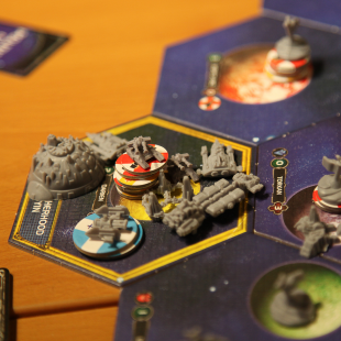 The Yin's Home System, guarded by a War Sun and many ground troops.