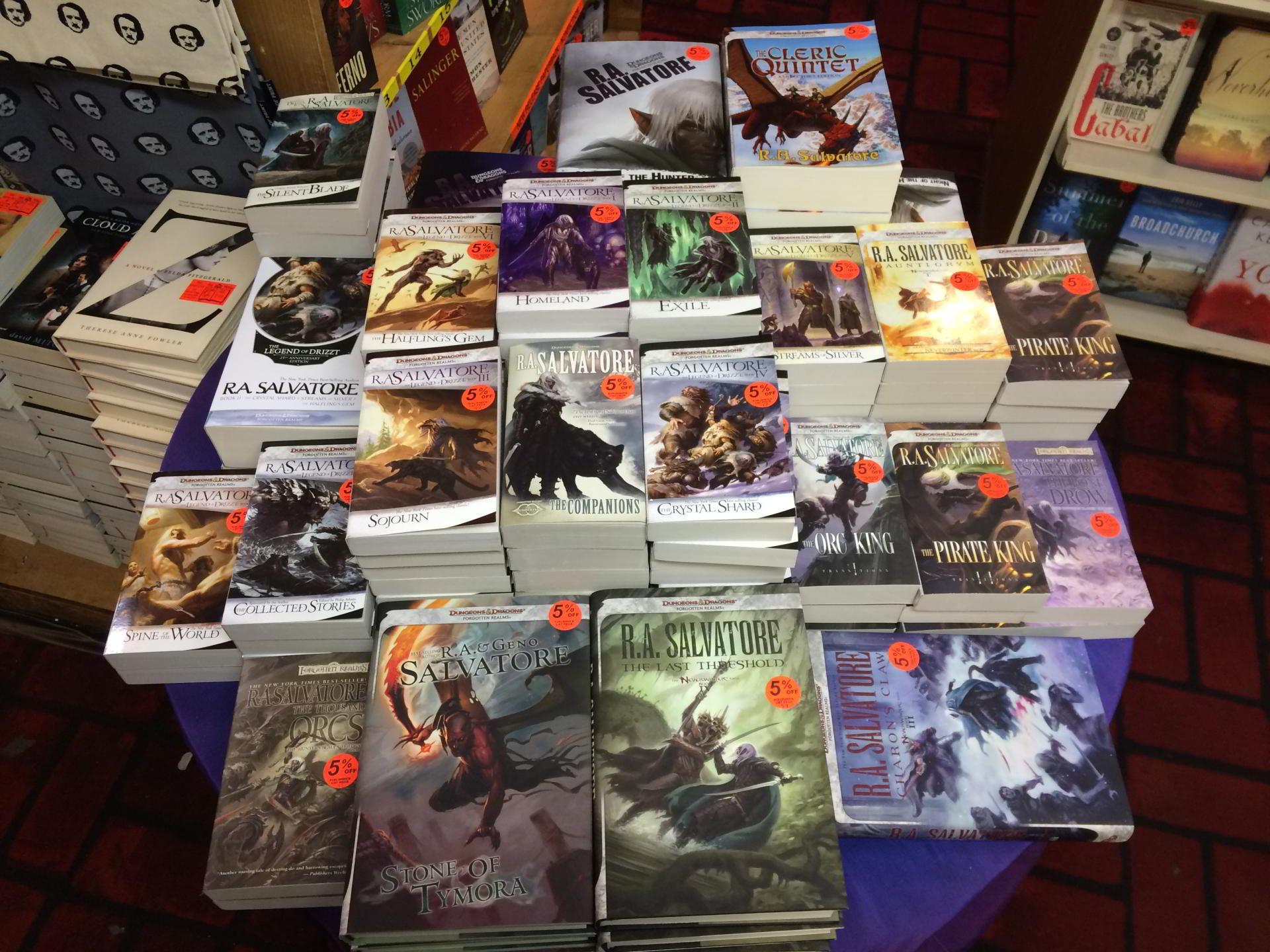 RA Salvatore's books