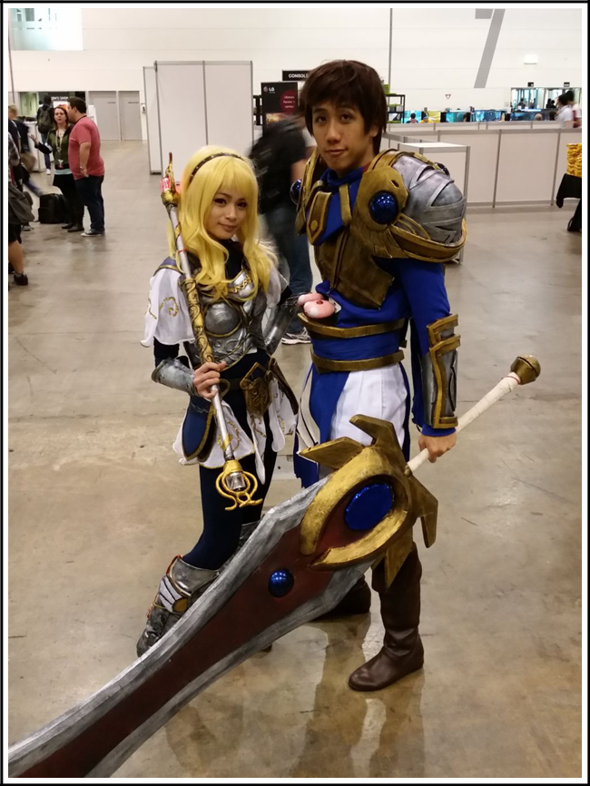 pax aus cosplay day 3 025 league of legends lux and garen
