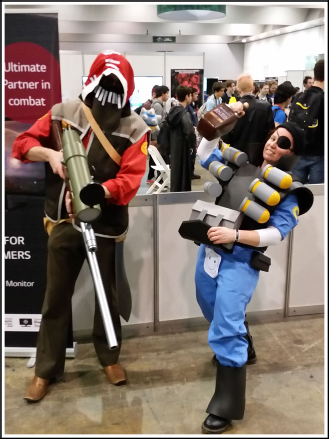 pax aus cosplay day 3 014 tf2 sniper and demoman