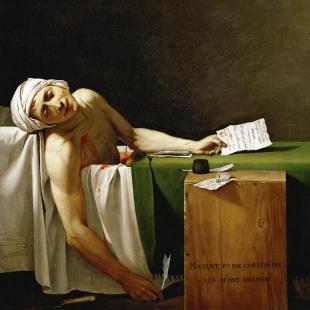 Jacques-Louis David - La Mort de Marat