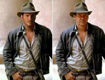 Chris Pratt vs. Harrison Ford as Indiana Jones