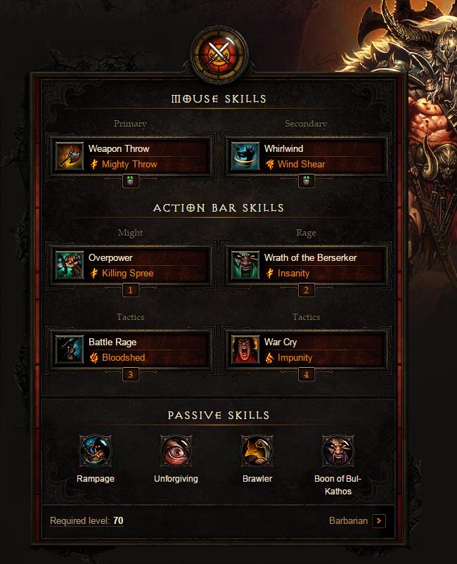 Diablo 3 Barbarian Build