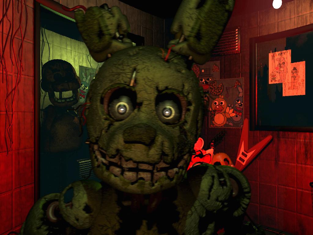 Wallpaper Springtrap Five Nights At Freddy S 3