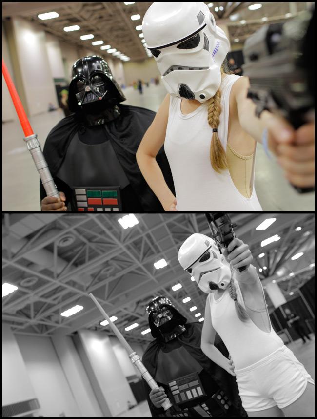 Vader and Short-Shorts Stormtrooper