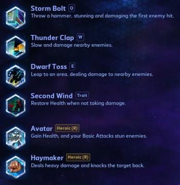 Muradin Abilities Heroes of the Storm