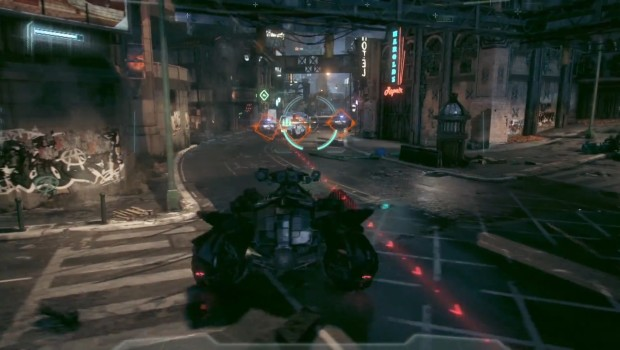 batman arkham knight batmobile combat screen