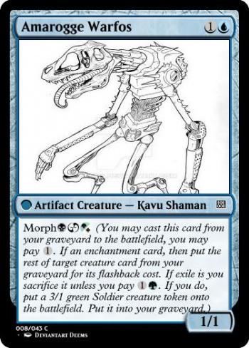 Magic the Gathering Computer Generated Morph card