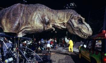 T-Rex Jurassic Park Behind the Scenes
